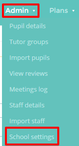 School Settings button